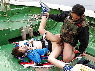 Japanese teen, Nonoka Kaede got fucked in the boat, uncensor