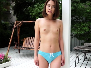 Japanese beautiful outdoor striptease Ian Hanasaki