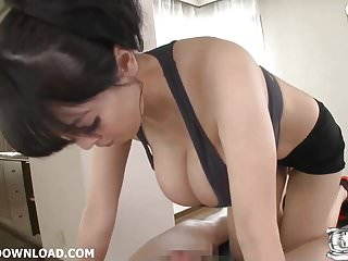 Japanese tit fuckig with her giant big tits a lucky guy